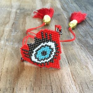 Jewelry - Bohemian jewelry evil eye 👁 good luck bracelet